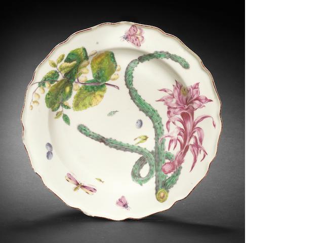 A Chelsea 'Hans Sloane' plate, circa 1755-58