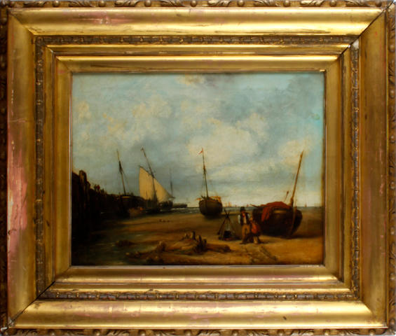 Attributed to James Baker Pyne (British, 1800-1870) A coastal scene