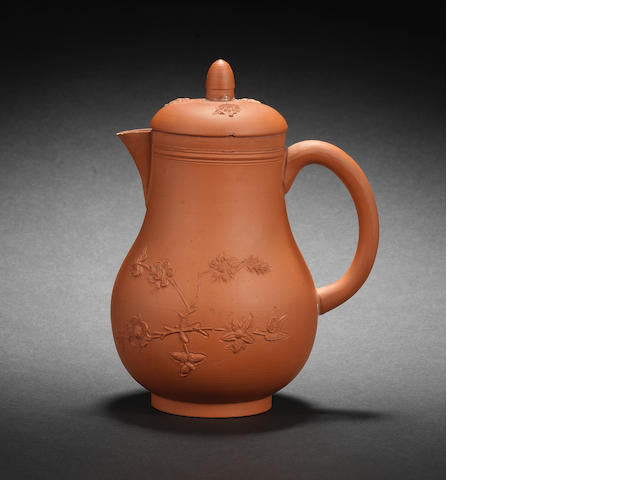An Elers redware coffee pot and cover, circa 1695