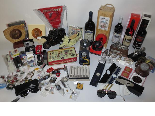 A lot of assorted motorycling collectables,