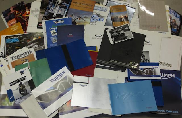 Assorted press packs for mainly British motorcycles,