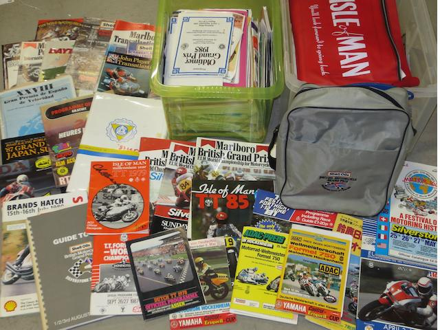 Assorted motorcycle race programmes and ephemera,