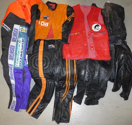 Yori Kanda's leather motorcycle wear,