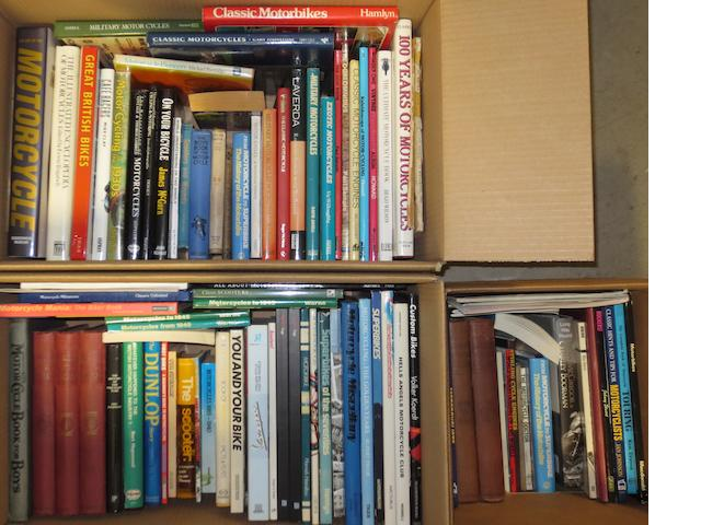 A quantity of assorted motorcycle books,