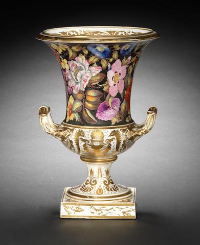 A large Derby campana vase, circa 1815