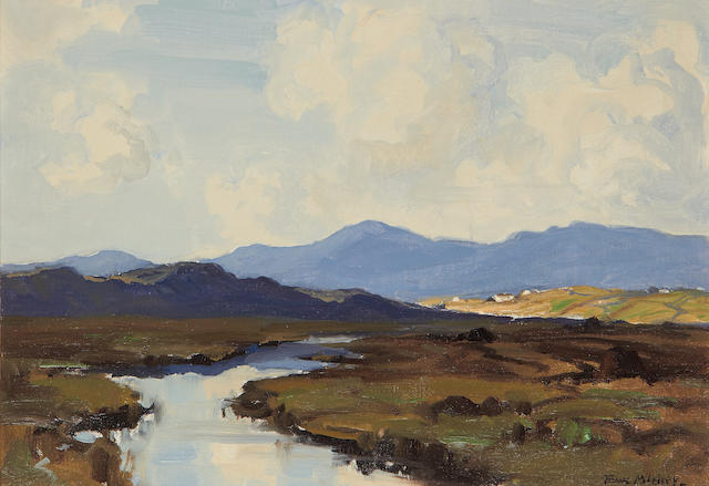 Frank McKelvey R.H.A., R.U.A. (Irish, 1895-1974) The Mournes from Portaferry 30.4 x 43.2 cm. (12 x 17 in.)