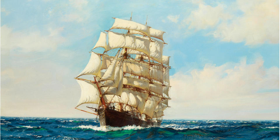 Montague Dawson (British, 1890-1973) Homeward bound