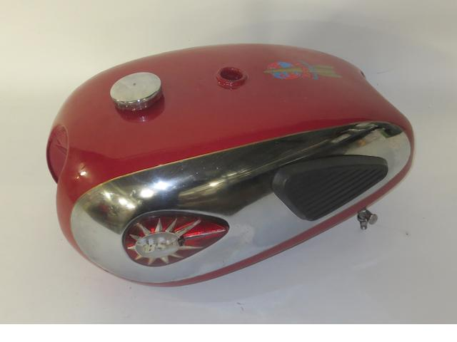 A BSA Super Rocket petrol tank,