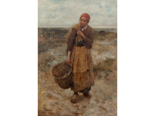 Robert McGregor, RSA (British, 1847-1922) The Fisher Girl