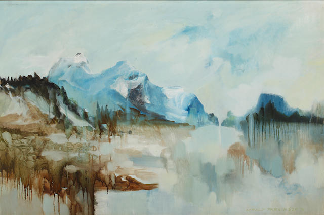 Gerald Parkinson (born 1926) Mountains and Lake