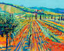 Godfrey Tonks (British, born 1948) Vineyard, Tuscany