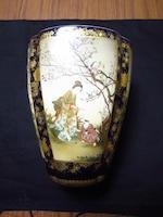 A Satsuma vase  By Kinkozan, Meiji