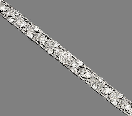 A belle époque diamond bracelet,