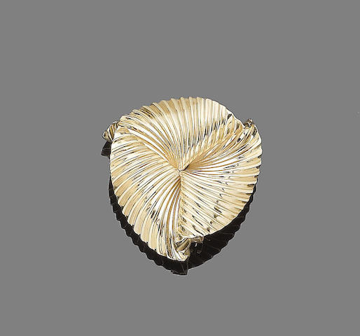 A fan brooch, by Cartier