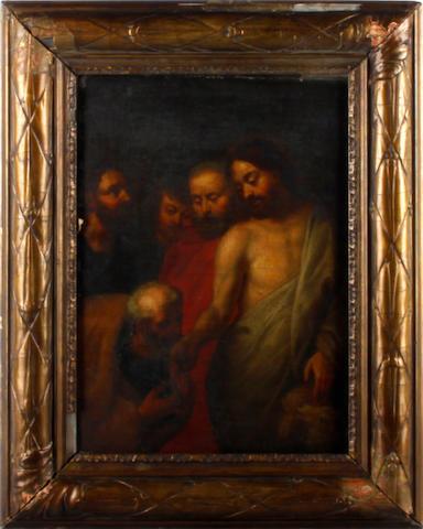 After Sir Peter Paul Rubens, 18th Century Christ handing the Keys to Saint Peter