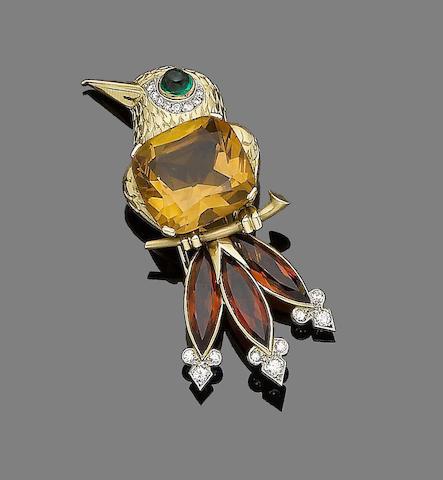 A gem-set novelty brooch, by Cartier London,