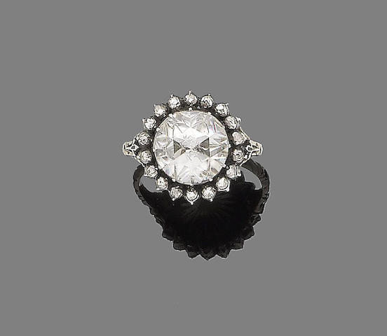 A 19th century diamond cluster ring
