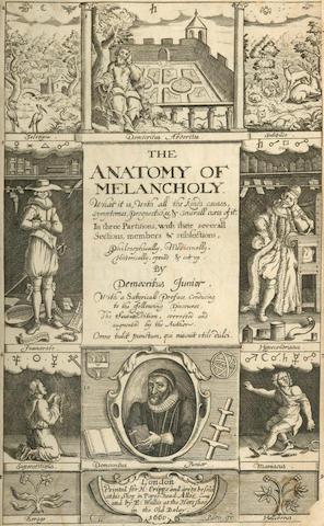 BURTON (ROBERT)] The Anatomy of Melancholy... by Democritus Junior