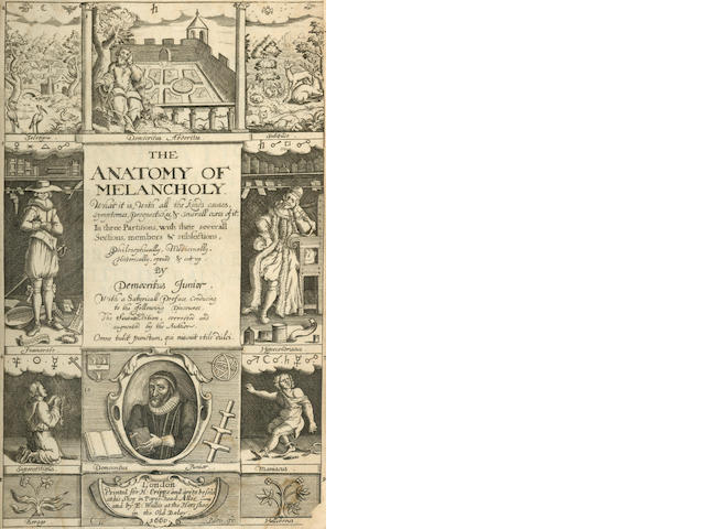 BURTON (ROBERT)] The Anatomy of Melancholy... by Democritus Junior