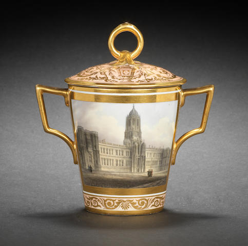 A fine Barr, Flight and Barr topographical cup and cover, circa 1807-8