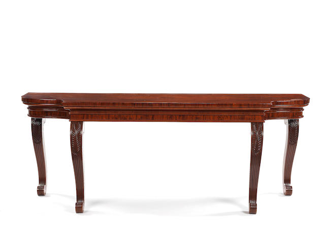 A Regency mahogany serving table, attributed to William Trotter