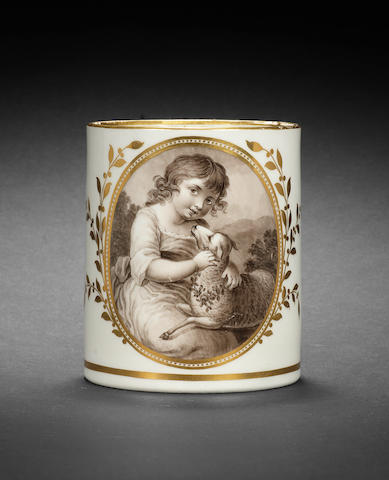 A Flight and Barr mug by John Pennington, circa 1795