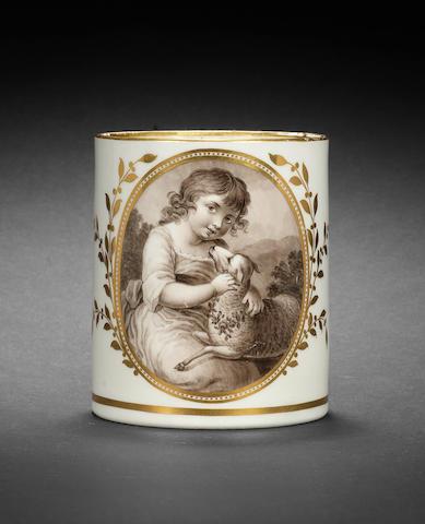 A Flight and Barr mug by John Pennington, circa 1795