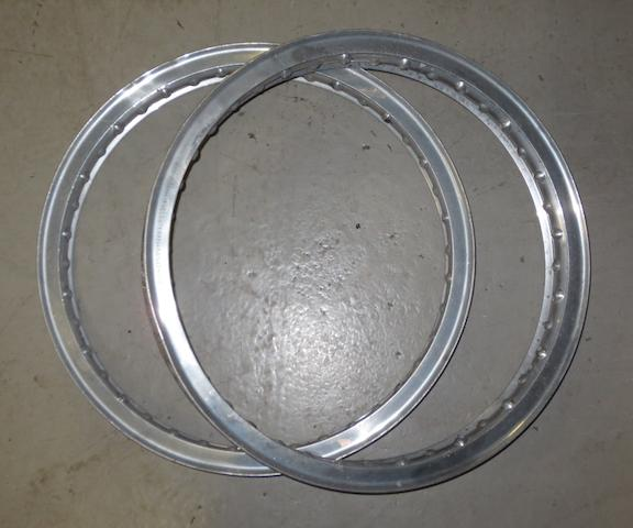 "A pair of Borrani WM2 19"" wheel rims,"