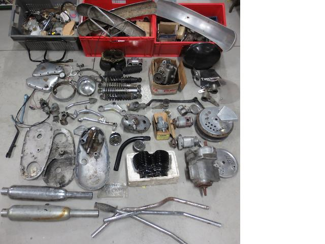 A quantity of assorted Triumph spares,