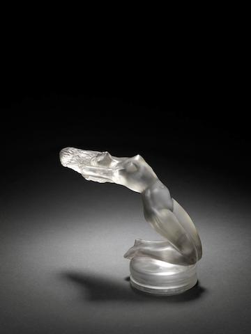 A 'Chrysis' glass mascot, by Rene Lalique, French, Introduced 21st March 1931,