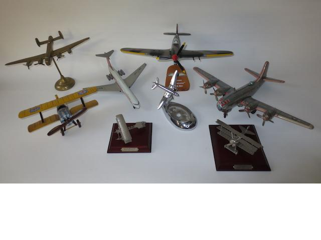 Eight Aeroplane toys and models,