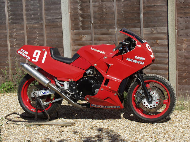 The ex-works, Kawasaki France, Adrien Morillas,1987 Kawasaki GPX750R Superbike Engine no. ZX750FE022122