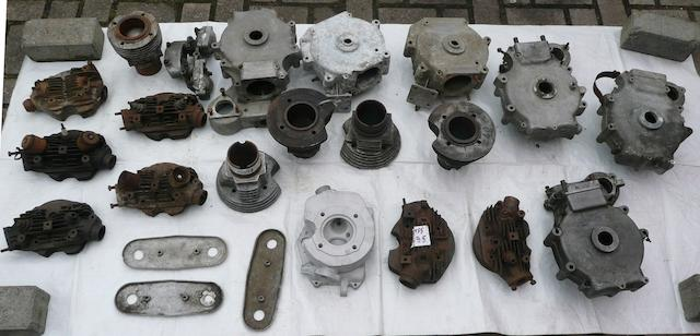 A quantity of assorted Velocette engine spares,