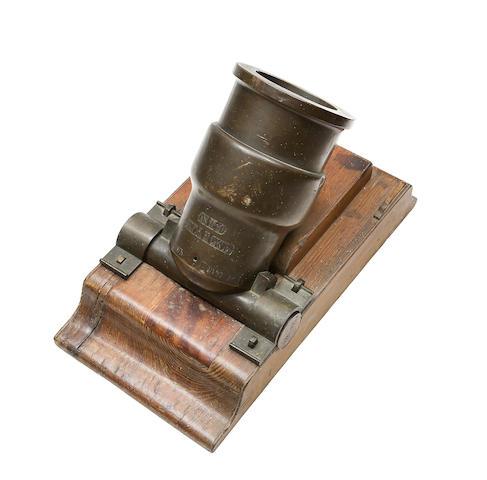 A Rare Russian Bronze Mortar