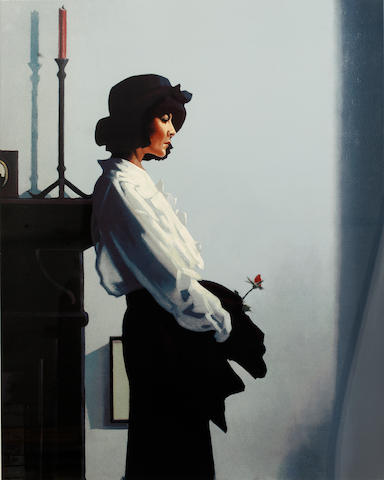 Jack Vettriano OBE Hon LLD (British, born 1951) Valentine Rose colour print, signed in pencil (lower right) and numbered 51/275 (lower left), 700 x 560mm. (27 1/2 x 22in.)