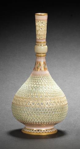 A good Royal Worcester bottle vase by George Owen and Samuel Ranford, dated 1889