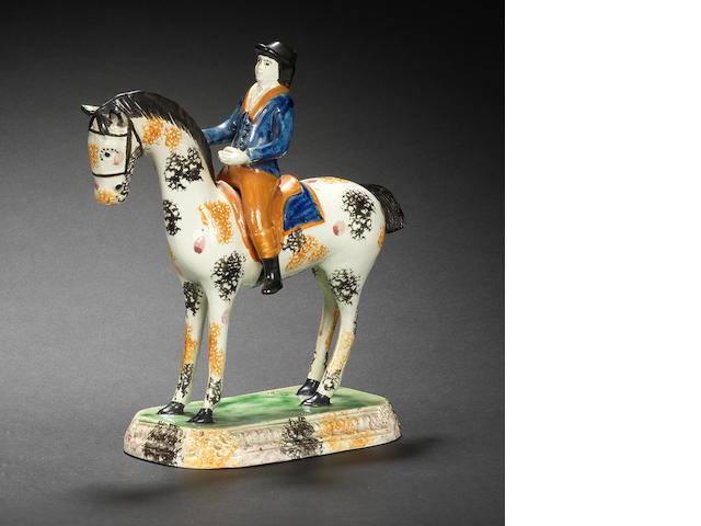A rare Pratt Ware equestrian model, circa 1810