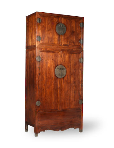 A very large huanghuali cabinet Late Qing Dynasty