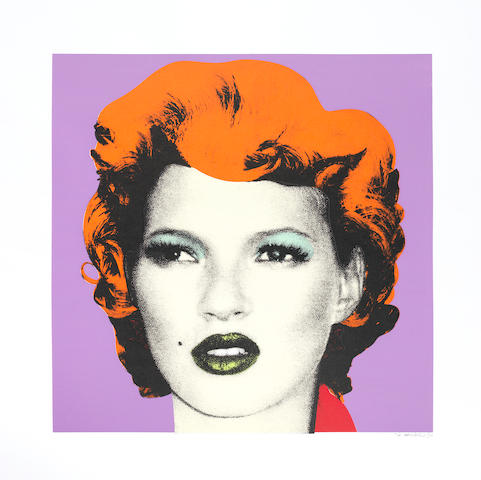 Banksy (b. 1975) Kate Moss (Purple and Orange)