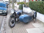 1934 Douglas 744cc Model Z1 'Powerflow' Motorcycle Combination Frame no. FM153 Engine no. 75/D134