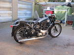 1947 BSA 495cc A7 Motorcycle Combination Frame no. XA7 1558 Engine no. XA7 1602