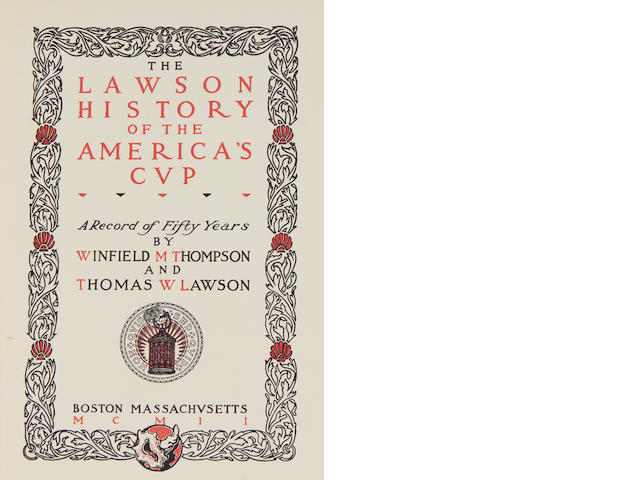 Thomas W Lawson The Lawson History of the America's Cup - A Record of 50 years