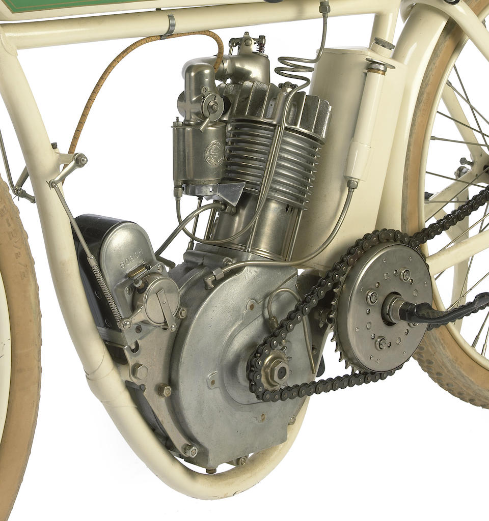 The ex-Steve McQueen,1914 Indian Model F Board-Track Racing Motorcycle Engine no. 41F092