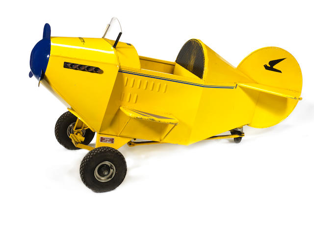 A custom-built child's pedal aeroplane 'Alphen' number 003,