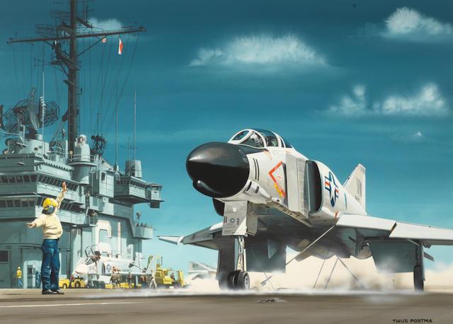 Thijs Postma, Dutch, (1934- ), 'McDonnell Douglas F-4B Phantom',