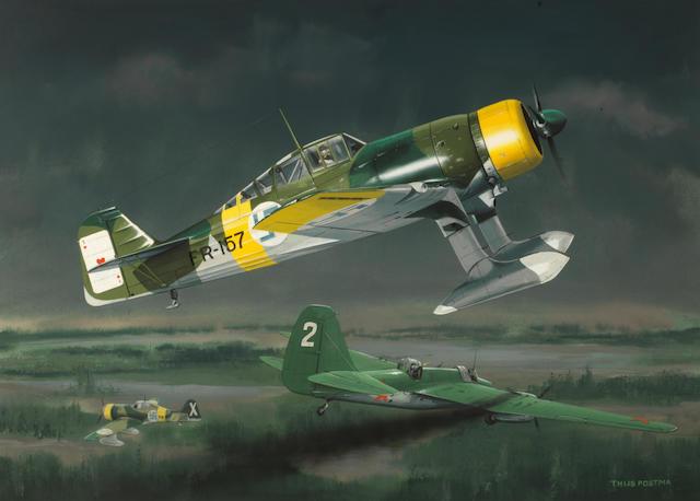 Thjijs Postma, Dutch, (1934- ), 'Fokker D.XXI',