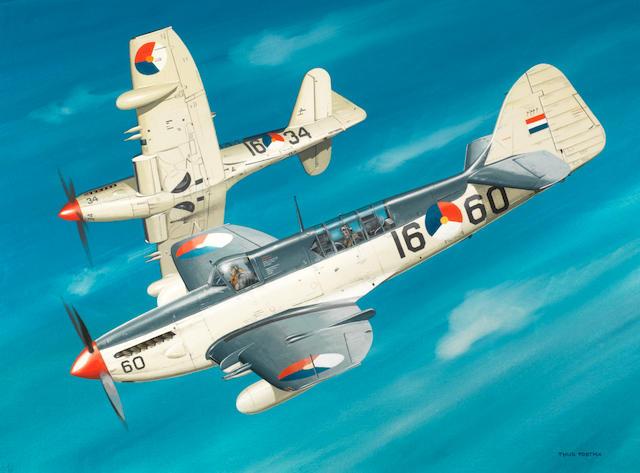 Thijs Postma, Dutch, (1934- ), 'Fairey Firefly Patrol',