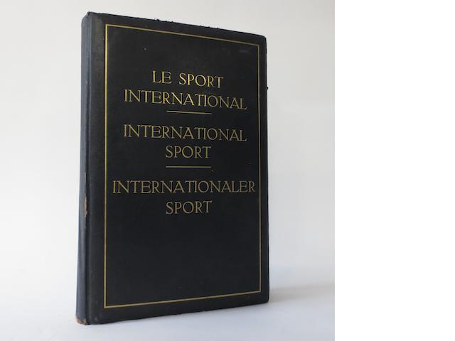 Le Sport International book, 1929-30,