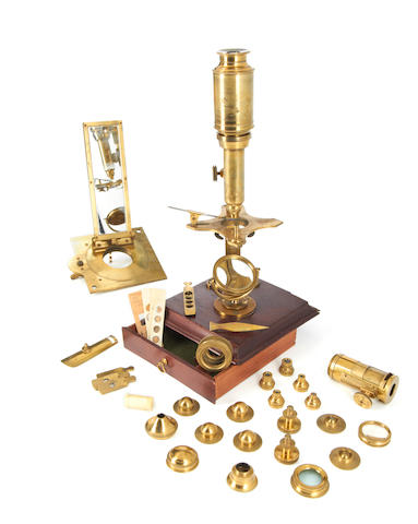 A Dollond Cuff-type compound and solar microscope compendium, English, circa 1800,