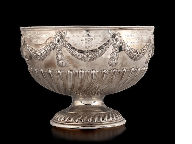 A silver Victorian rosebowl,